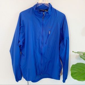 Patagonia blue Velocity Wind shell